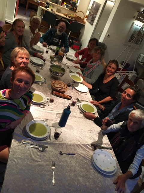 Repas partagé des adhérents de l'association la Fédération Française de Yoga