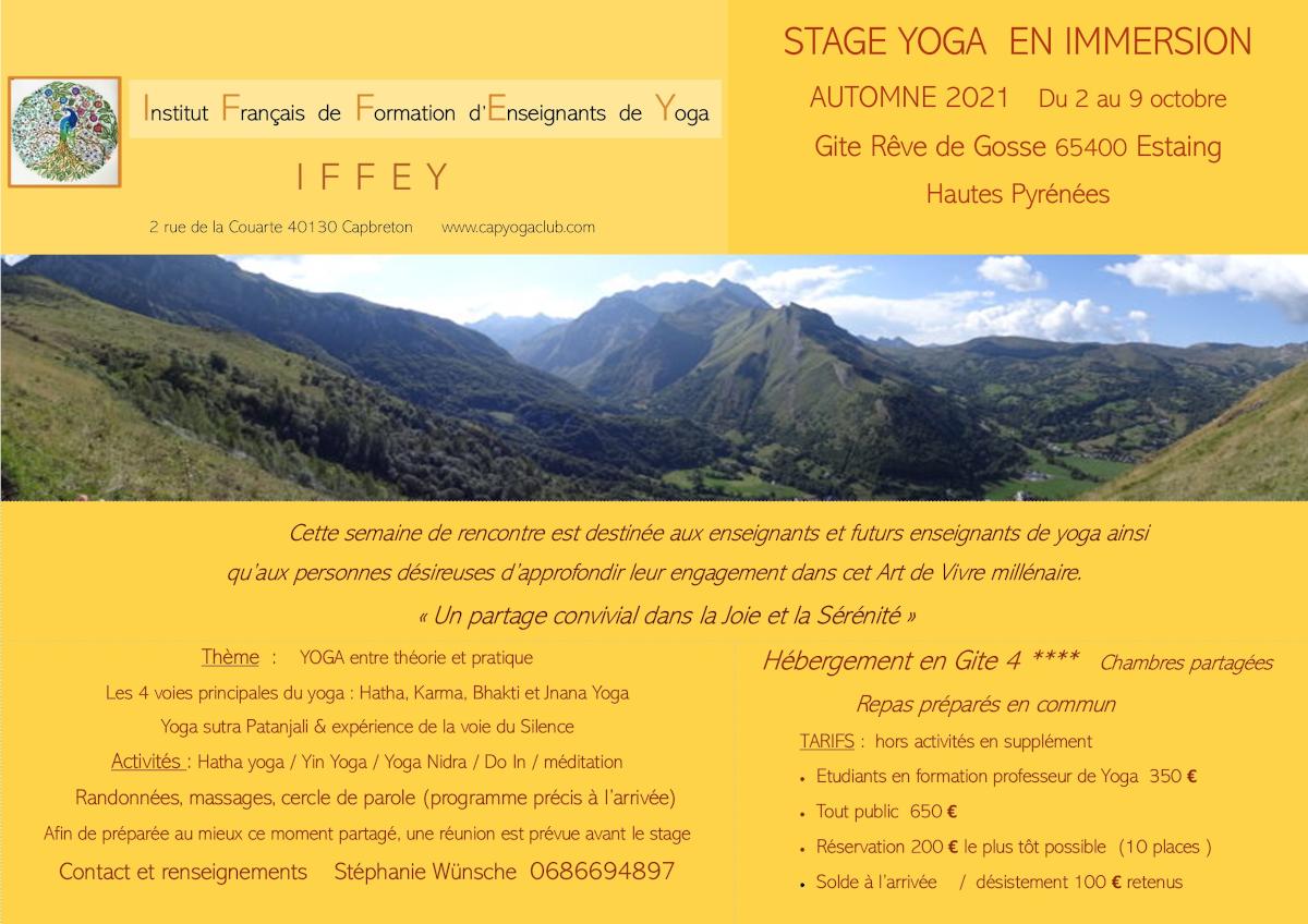Stage  yoga Capbreton-Pyrénées 2021